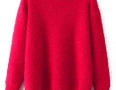 Solid Round Neck Sweater Chicnova bester Fashion-Online-Shop aus China