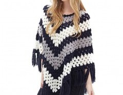 Crochet Poncho with Tassel Hem Chicnova bester Fashion-Online-Shop aus China
