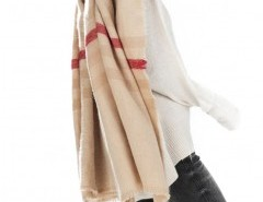 Striped Cape with Tassel Chicnova bester Fashion-Online-Shop aus China