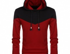 COOFANDY Fashion Men Casual Long Sleeve Hooded Sweatershirt Patchwork Splicing Leisure Thick Pullover Hoodies Cndirect bester Fashion-Online-Shop aus China