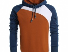 Coofandy Men's Warm Contrast Color Hooded Slim Pullover Hoodies Cndirect bester Fashion-Online-Shop aus China
