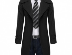 COOFANDY Fashion Men Slim Trench Coat Long Jacket Double Breasted Overcoat Outwear Warm Woolen Coat Cndirect bester Fashion-Online-Shop aus China