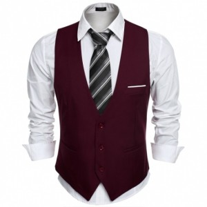 COOFANDY Men's Top Designed Business Slim Fit Skinny Vest Waistcoat Cndirect bester Fashion-Online-Shop aus China