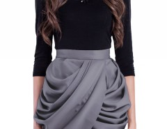 Asymmetric Mini Skirt - Tulip Carnet de Mode bester Fashion-Online-Shop