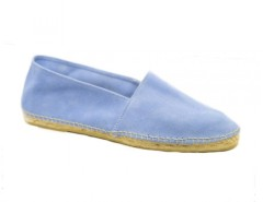 Azure - Sky Blue Suede Espadrilles Carnet de Mode bester Fashion-Online-Shop