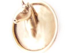BROOCH - PONY - GOLDEN Carnet de Mode bester Fashion-Online-Shop
