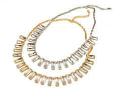 Baguette Crystal Necklace MrKate.com bester Fashion-Online-Shop aus den USA