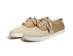 Beige and Kaki Sneakers in Canvas - Robert Carnet de Mode bester Fashion-Online-Shop