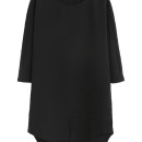 Black 3/4 Sleeve Front Slit Dipped Hem Shift Dress Choies.com bester Fashion-Online-Shop Großbritannien Europa