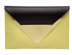 Black Acid Leather Clutch Le Parisien Carnet de Mode bester Fashion-Online-Shop