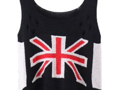 Black Character Mi Cut Out Ripped Knit Vest Choies.com bester Fashion-Online-Shop Großbritannien Europa