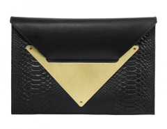 Black Clutch Python Le Parisien Carnet de Mode bester Fashion-Online-Shop