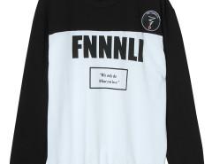 Black Color Block Letter Print Sweatshirt Choies.com bester Fashion-Online-Shop Großbritannien Europa