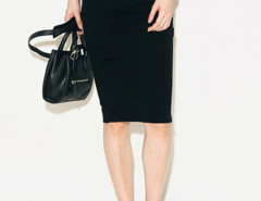 Black Contrast High Waist Pencil Skirt Choies.com bester Fashion-Online-Shop Großbritannien Europa