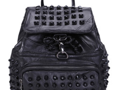 Black Drawstring Studs Embellished Small Backpack Choies.com bester Fashion-Online-Shop Großbritannien Europa