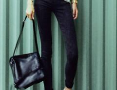 Black Elastic Waist Skinny Jeans Choies.com bester Fashion-Online-Shop Großbritannien Europa