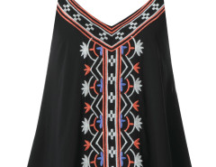 Black Embroidery Layer Cami Vest Choies.com bester Fashion-Online-Shop Großbritannien Europa