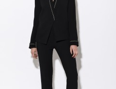 Black Kimono Blazer with Golden Thread Carnet de Mode bester Fashion-Online-Shop