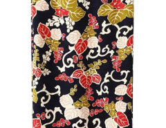 Black Leaves Print Split Detail High Waist Skirt Choies.com bester Fashion-Online-Shop Großbritannien Europa