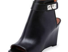 Black Metal Detail Peep Toe Wedge Ankle Sandals Choies.com bester Fashion-Online-Shop Großbritannien Europa