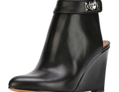 Black Metal Detail Ponited Wedge Ankle Boots Choies.com bester Fashion-Online-Shop Großbritannien Europa