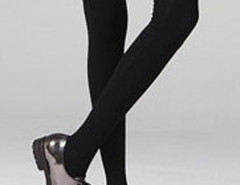 Black Over The Knee Socks Choies.com bester Fashion-Online-Shop Großbritannien Europa