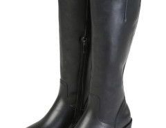 Black PU Zipper Side High Boots Choies.com bester Fashion-Online-Shop Großbritannien Europa