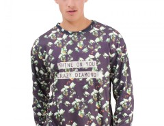 Black Polyester Sweatshirt - Crazy Diamond Carnet de Mode bester Fashion-Online-Shop