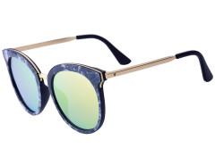 Black Printed Frame Cat Eye Mirror Sunglasses Choies.com bester Fashion-Online-Shop Großbritannien Europa