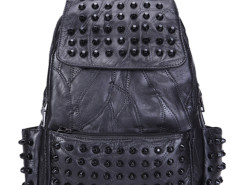 Black Studded Detail Top Handle Backpack Choies.com bester Fashion-Online-Shop Großbritannien Europa