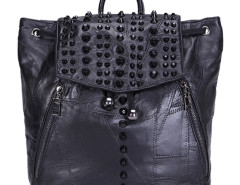 Black Studded Drawstring Top Handle Backpack Choies.com bester Fashion-Online-Shop Großbritannien Europa
