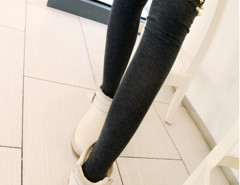 Black Studded Thigh High Socks Choies.com bester Fashion-Online-Shop Großbritannien Europa