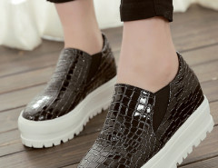 Black Textured Flatform Loafers Choies.com bester Fashion-Online-Shop Großbritannien Europa
