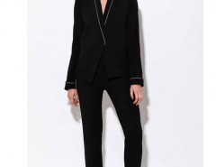 Black Trousers with Golden Thread Carnet de Mode bester Fashion-Online-Shop