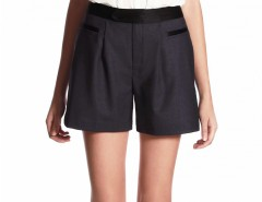Black Wool Shorts Yerina Carnet de Mode bester Fashion-Online-Shop