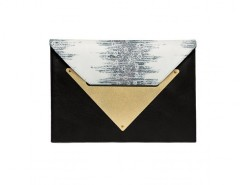 Black and Python Leather Le Parisien Clutch Carnet de Mode bester Fashion-Online-Shop