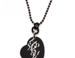 Black and Silver Plated Brass Long Necklace Hope Carnet de Mode bester Fashion-Online-Shop