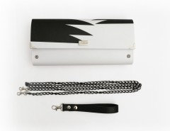 Black and White Printed Clutch Nadia Stasinou Carnet de Mode bester Fashion-Online-Shop