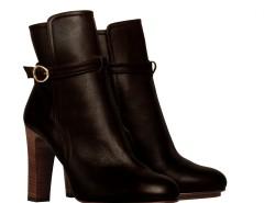 Black leather ankle boots with buckles De Siena - Alexandra Carnet de Mode bester Fashion-Online-Shop