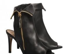 Black leather open-toe ankle boots De Siena - Camille Carnet de Mode bester Fashion-Online-Shop
