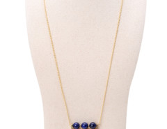 Blue Boho Bead Chain Tasseled Pendant Necklace Choies.com bester Fashion-Online-Shop Großbritannien Europa