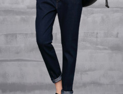 Blue Drawstring Waist Harem Jeans Choies.com bester Fashion-Online-Shop Großbritannien Europa