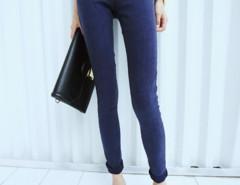 Blue Elastic Waist Skinny Jeans Choies.com bester Fashion-Online-Shop Großbritannien Europa