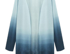 Blue Fade Long Sleeve Open Front Cardigan Choies.com bester Fashion-Online-Shop Großbritannien Europa