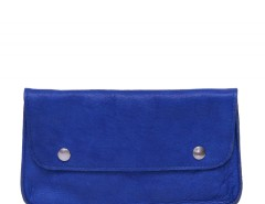 Blue Leather Purse Carnet de Mode bester Fashion-Online-Shop