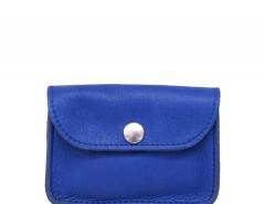 Blue Leather Small Purse Carnet de Mode bester Fashion-Online-Shop