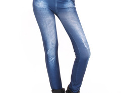 Blue Light Wash High Waist Denim Leggings Choies.com bester Fashion-Online-Shop Großbritannien Europa