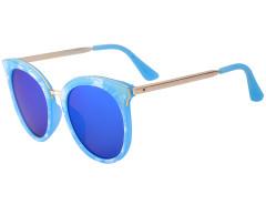 Blue Printed Frame Cat Eye Mirror Sunglasses Choies.com bester Fashion-Online-Shop Großbritannien Europa