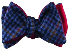 Bow tie - Cashmere pied de poule - blue Carnet de Mode bester Fashion-Online-Shop