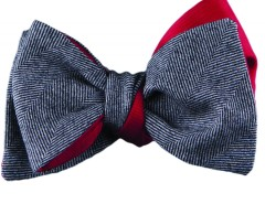Bow tie - Chevron - grey Carnet de Mode bester Fashion-Online-Shop